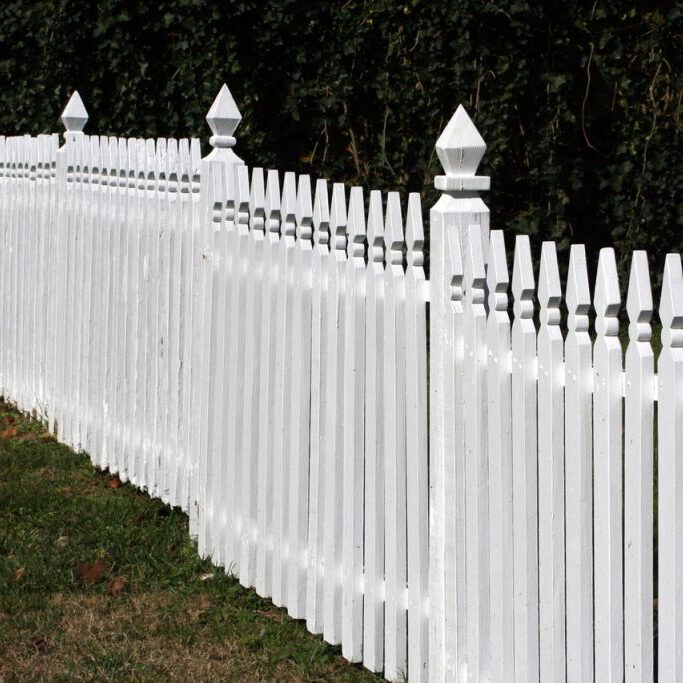 white wood fence installation in Wichita Falls Texas